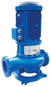 In-Line Centrifugal Pumps, Mounted on Straight Pipe NLL